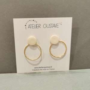Boucle d'oreilles Jeanne Crème – Atelier Gustave