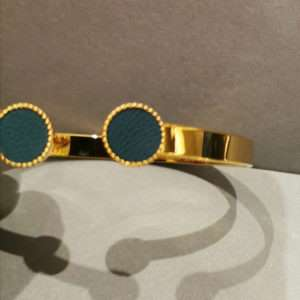 Bracelet jonc ajustable Marie Bleu Canard – Atelier Gustave