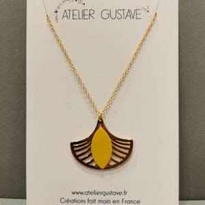 Collier Aurore Safran – Atelier Gustave