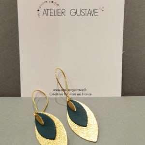 Boucle d'oreilles Charline Bleu Canard – Atelier Gustave