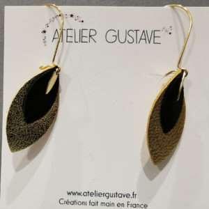 Boucle d'oreilles Charline Noir – Atelier Gustave