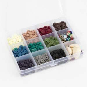 Boîte de perles Heishi naturelle 6mm – La Petite Epicerie