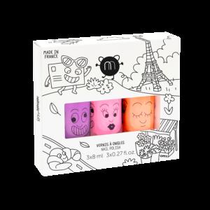 Coffret 3 vernis néon Paris – Nailmatic