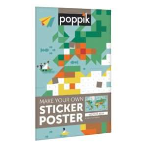 Poster stickers découverte du monde – Poppik