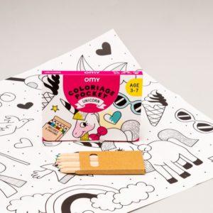 Coloriage pocket mini Licorne – Omy