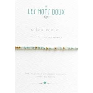 Bracelet Morse Chance Vert d'eau – Les Mots Doux