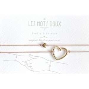 Bracelet Duo Coeur Rose – Les Mots Doux