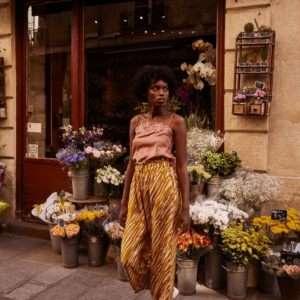 Pantalon Arloew Cinnamon Bush Stripes 40 – Louise Misha