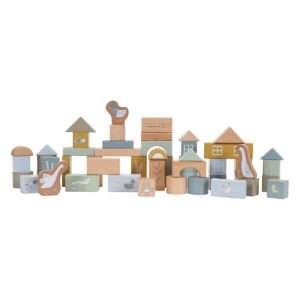 Tonneau de blocs construction Bleu – Little Dutch