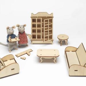 Kit de meubles à monter Le Salon – The Mansion Mouse