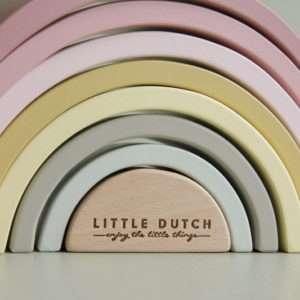 Arc en ciel en bois Rose – Little Dutch