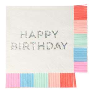 16 Serviettes Birthday – Meri Meri