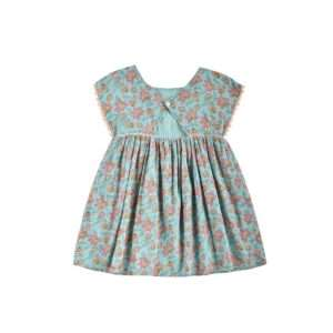 Robe Tapalpa Turquoise Flowers 8 ans – Louise Misha