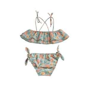 Bikini Zacata Turquoise Flowers 24 mois – Louise Misha