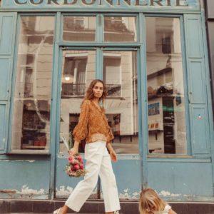 Blouse Lorine Cinnamon Flowers 34 – Louise Misha