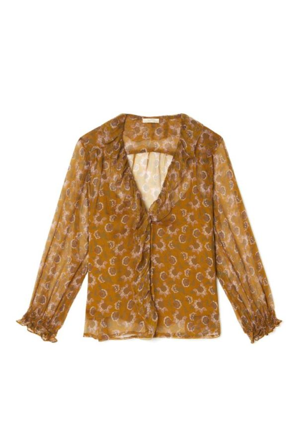blouse lorine cinamon louise misha