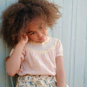 Jupe Dollina Cream Flowers 4 ans – Louise Misha