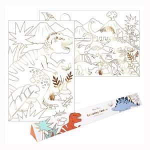 Set de 2 posters Dinosaures à colorier – Meri Meri