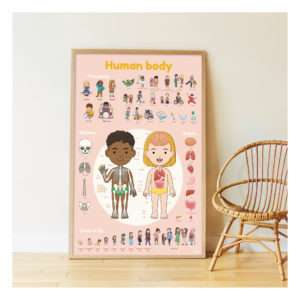 Poster stickers Le Corps Humain – Poppik