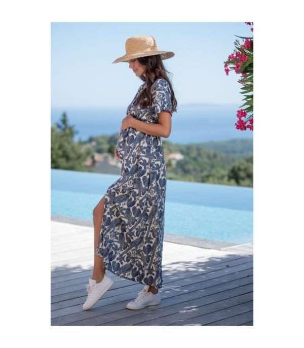 robe de grossesse longue louise pomkin