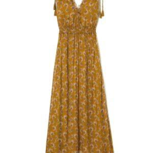 Robe Plumeria Cinnamon Flowers 40 – Louise Misha