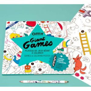 Poster à colorier Games + crayon – OMY