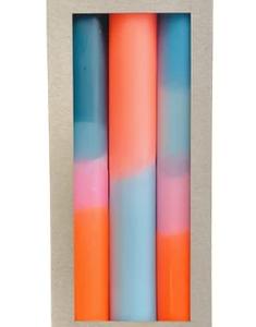 3 bougies Neon Coral Playa – Pink Stories