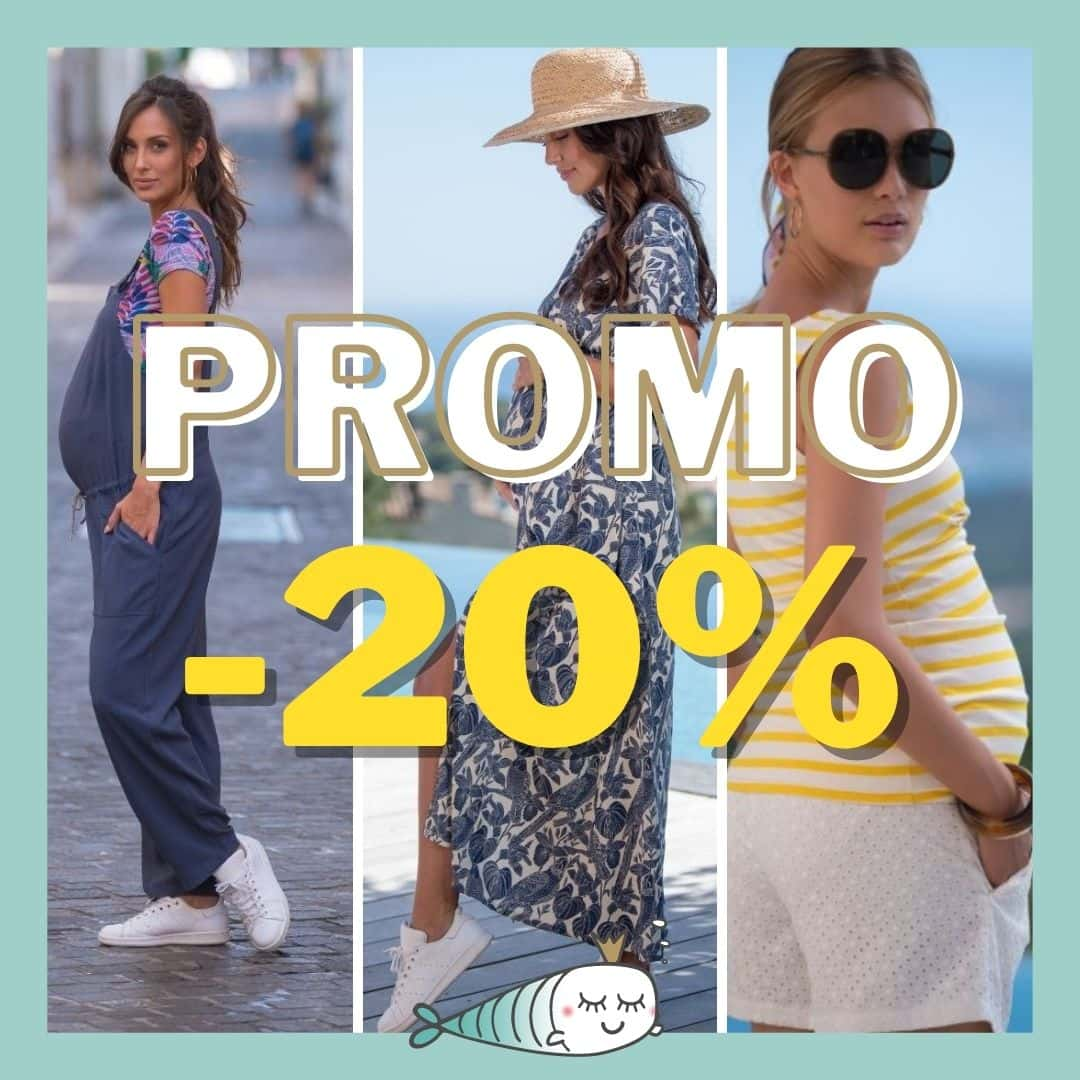 20 % de réduction sur la gamme vêtements de grossesse jusqu'au 07/06