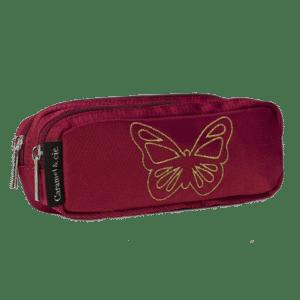 Trousse double Papillon Rubis – Caramel & Cie