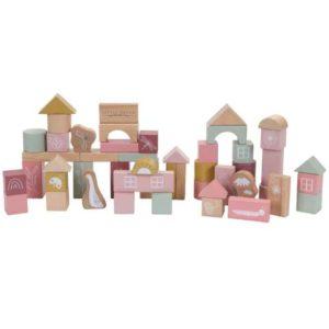 Tonneau de blocs en bois Rose – Little Dutch