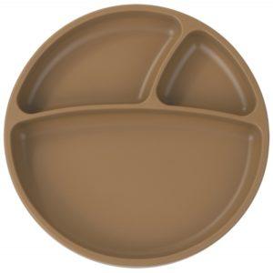 Assiette ventouse Compartiment Caramel – Minikoioi